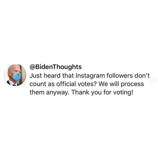 Joe Biden Instagram